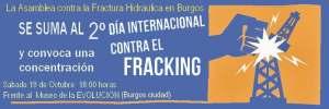 Próxima concentración contra el Fracking en Burgos